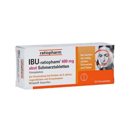 IBU-RATIOPHARM 400 mg akut Schmerztbl. Filmtabl.