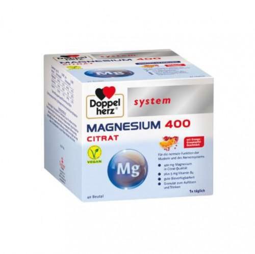 DOPPELHERZ Magnesium 400 Citrat system Granulat