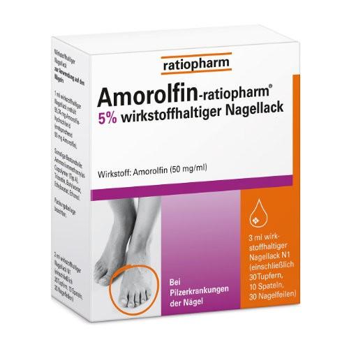 AMOROLFIN-ratiopharm 5% wirkstoffhalt. Nagellack