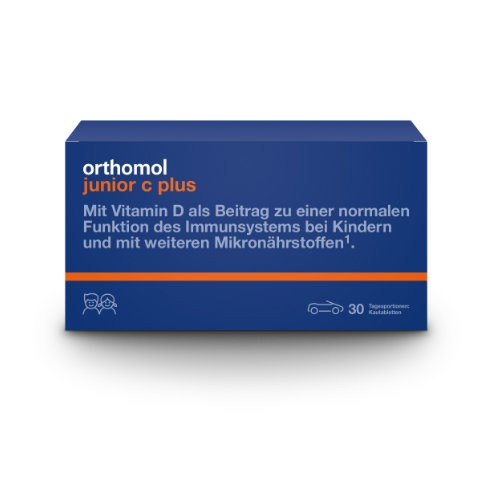 ORTHOMOL Junior C plus Kautabl. Waldfrucht