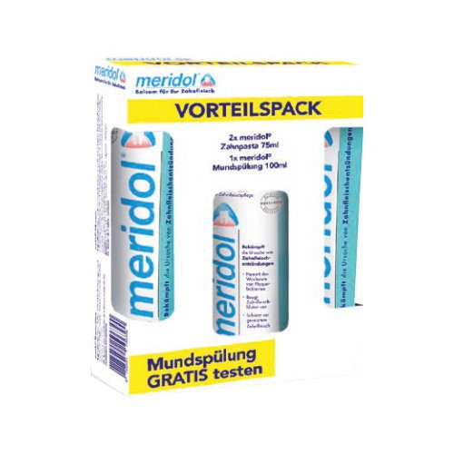 MERIDOL Zahnpasta Vorteilspack+100 ml Spülung